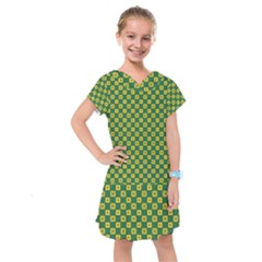 Df Green Domino Kids  Drop Waist Dress by deformigo