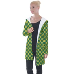Df Green Domino Longline Hooded Cardigan by deformigo
