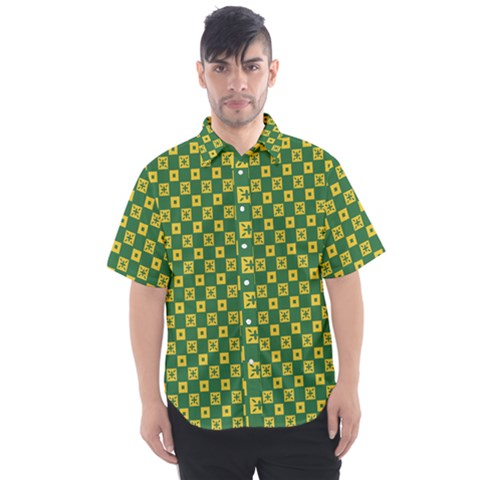 Df Green Domino Men s Short Sleeve Shirt by deformigo