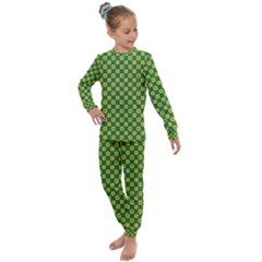 Df Green Domino Kids  Long Sleeve Set  by deformigo