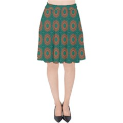 Df Alexis Finley Velvet High Waist Skirt by deformigo