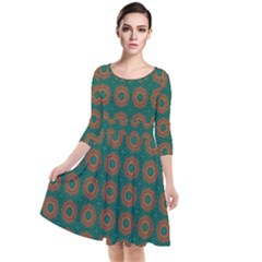 Df Alexis Finley Quarter Sleeve Waist Band Dress