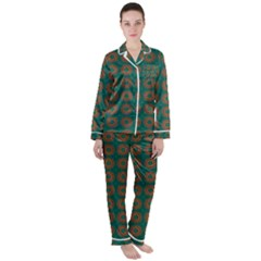 Df Alexis Finley Satin Long Sleeve Pyjamas Set by deformigo