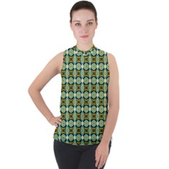Df Kristian Noble Mock Neck Chiffon Sleeveless Top by deformigo