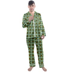 Df Kristian Noble Men s Satin Pajamas Long Pants Set by deformigo