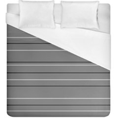 Black Grey White Stripes Duvet Cover (king Size) by anthromahe