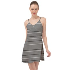 Black Grey White Stripes Summer Time Chiffon Dress by anthromahe