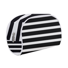 Black & White Stripes Makeup Case (small)