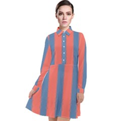 Living Pacific  Long Sleeve Chiffon Shirt Dress by anthromahe