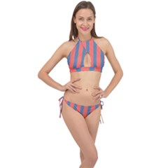 Living Pacific  Cross Front Halter Bikini Set by anthromahe