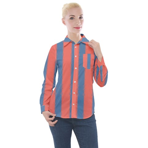 Living Pacific  Women s Long Sleeve Pocket Shirt by anthromahe