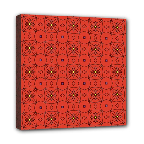 Tiling Zip A Dee Doo Dah+designs+red+color+by+code+listing+1 8 [converted] Mini Canvas 8  X 8  (stretched) by deformigo