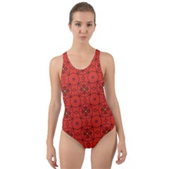 Tiling Zip A Dee Doo Dah+designs+red+color+by+code+listing+1 8 [converted] Cut-out Back One Piece Swimsuit by deformigo
