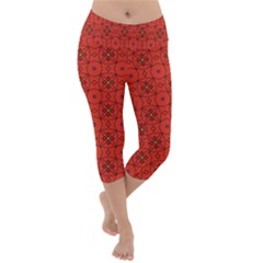 Tiling Zip A Dee Doo Dah+designs+red+color+by+code+listing+1 8 [converted] Lightweight Velour Capri Yoga Leggings by deformigo