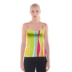 Abstract Lines Spaghetti Strap Top