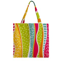 Abstract Lines Zipper Grocery Tote Bag by designsbymallika