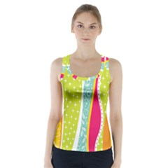 Abstract Lines Racer Back Sports Top by designsbymallika