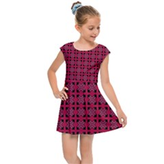 Df Ricky Purplish Kids  Cap Sleeve Dress by deformigo