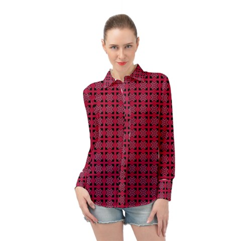 Df Ricky Purplish Long Sleeve Chiffon Shirt by deformigo