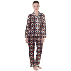 Df West Branch Satin Long Sleeve Pyjamas Set by deformigo