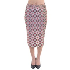 Df True Wish Velvet Midi Pencil Skirt by deformigo