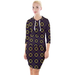 Df Festus Regence Quarter Sleeve Hood Bodycon Dress by deformigo