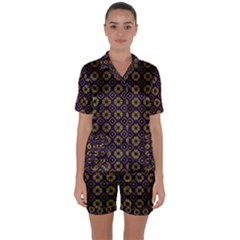 Df Festus Regence Satin Short Sleeve Pyjamas Set by deformigo