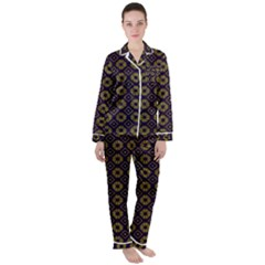 Df Festus Regence Satin Long Sleeve Pyjamas Set by deformigo