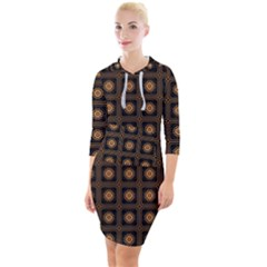 Df Freesia Vicegrand Quarter Sleeve Hood Bodycon Dress by deformigo