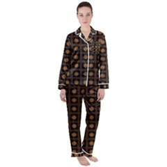 Df Freesia Vicegrand Satin Long Sleeve Pyjamas Set by deformigo