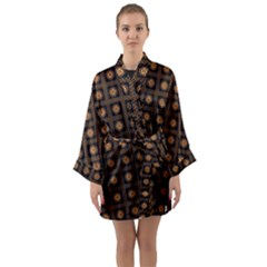 Df Freesia Vicegrand Long Sleeve Satin Kimono by deformigo