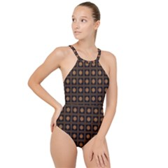 Df Freesia Vicegrand High Neck One Piece Swimsuit by deformigo