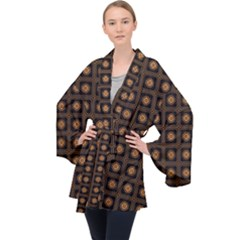 Df Freesia Vicegrand Long Sleeve Velvet Kimono  by deformigo