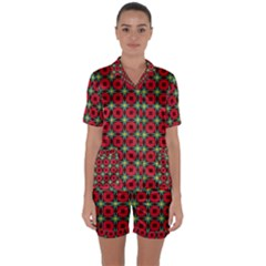 Df Jamie Greer Satin Short Sleeve Pyjamas Set by deformigo