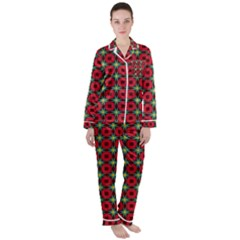 Df Jamie Greer Satin Long Sleeve Pyjamas Set by deformigo