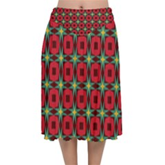 Df Jamie Greer Velvet Flared Midi Skirt by deformigo