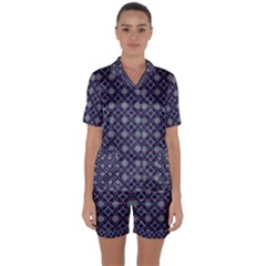 Df Galileo Magic Satin Short Sleeve Pyjamas Set by deformigo
