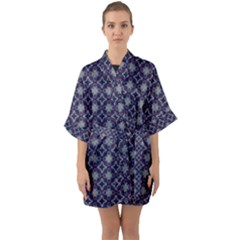 Df Galileo Magic Half Sleeve Satin Kimono  by deformigo