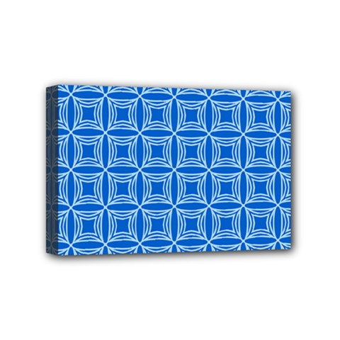 Df Blue Woollister Mini Canvas 6  X 4  (stretched) by deformigo