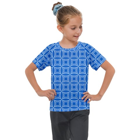 Df Blue Woollister Kids  Mesh Piece Tee by deformigo