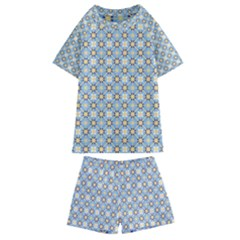 Df Norbert Pastel Kids  Swim Tee And Shorts Set by deformigo