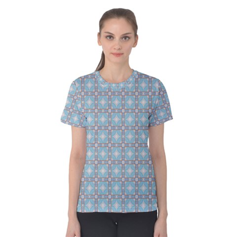 Df Tech Sky Women s Cotton Tee by deformigo