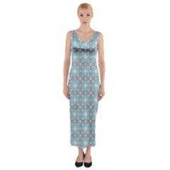 Df Tech Sky Fitted Maxi Dress by deformigo