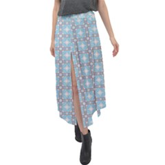 Df Tech Sky Velour Split Maxi Skirt by deformigo