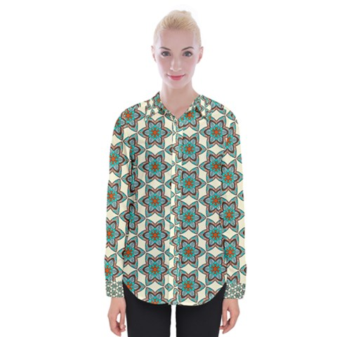 Df Tomomi Nao Womens Long Sleeve Shirt by deformigo