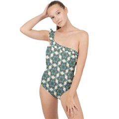 Df Tomomi Nao Frilly One Shoulder Swimsuit