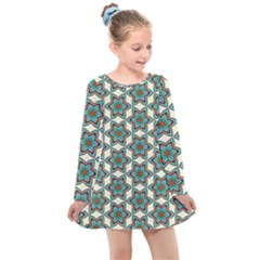 Df Tomomi Nao Kids  Long Sleeve Dress by deformigo