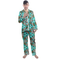 Df Kyo Shun Men s Satin Pajamas Long Pants Set by deformigo
