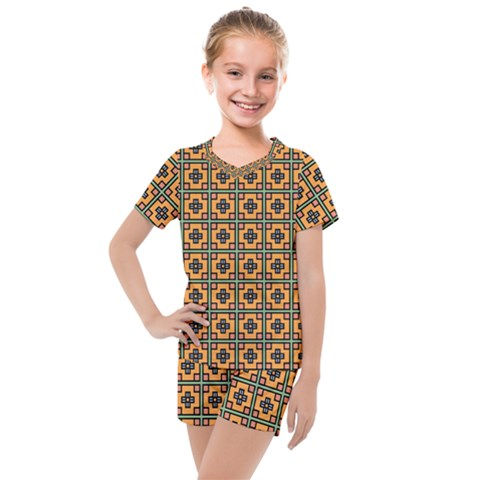 Df Villavechia Kids  Mesh Tee And Shorts Set by deformigo