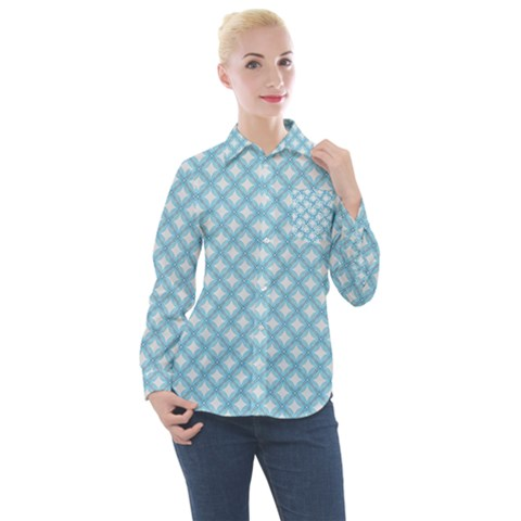 Df Albion Star Women s Long Sleeve Pocket Shirt by deformigo